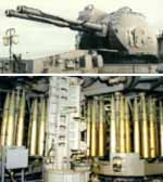 One of the AK130-MR-184 130mm Guns and loading system.
